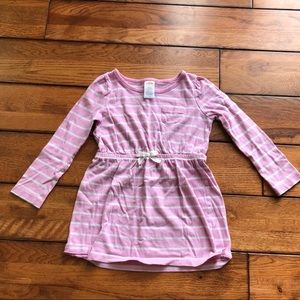 Gymboree pink and white striped tunic/dress size 4